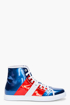 Marc Jacobs Patent Metallic American Sneakers