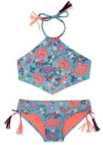 Gossip Girl Girl's 'Le Corsaire' Print Two-Piece Swimsuit