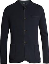 Giorgio Armani Exposed-seam wool-blend jersey blazer