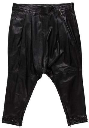 Thomas Wylde Leather Drop Crotch Pants
