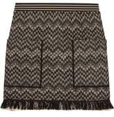 Missoni Frayed Crochet-Knit Wool-Blend Mini Skirt