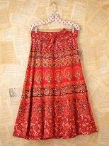 Namaste Vintage Printed Wrap Skirt