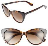 Kate Spade Women's Sherylyn 54Mm Sunglasses - Havana/ Black