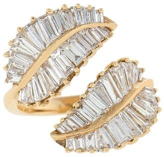 Anita Ko 18kt Rose Gold Palm Leaf Diamond Ring
