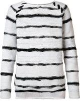 Baja East striped jumper