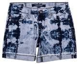 Vigoss Girl's Denim Mid Shorts Tie Dye