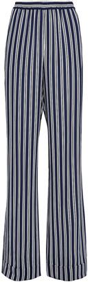 Michael Kors Striped Crepe Wide-leg Pants