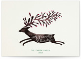 Minted Christmas Deer Holiday Non-Photo Cards