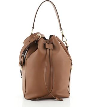 Ralph Lauren Ricky Drawstring Bag Leather Medium