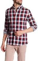 Jack Spade Sheppard Trapunto Checkered Trim Fit Shirt