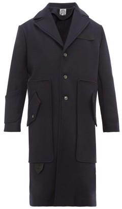 Boramy Viguier - Contrast-panel Wool-blend Coat - Mens - Navy
