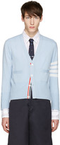 Thom Browne Blue Classic Short V-Neck Cardigan