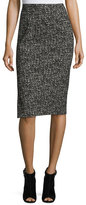 Michael Kors Tweed Pencil Skirt, Black/White