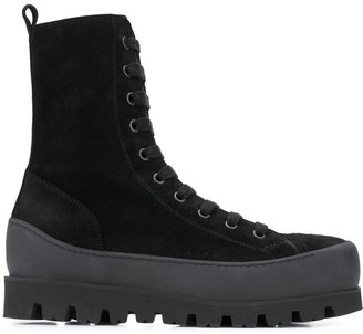 Ann Demeulemeester Chunky Heel Ankle Boots