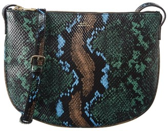 A.P.C. Sac Maelys Snake-Embossed Leather Crossbody
