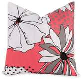 Crayola Flower Patch 16-Inch Square Throw Pillow in Pink/Grey