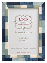Eccolo Marquetry Frame, 5 by 7-Inch, Mixed Up Blue