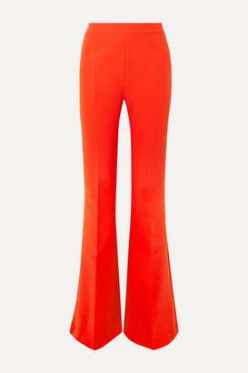 Safiyaa Halluana Stretch-crepe Flared Pants - Orange