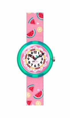 Flik Flak Kids' 2004 Pool in Miami Swiss Quartz Watch with Textile Strap Blue 14 (Model: ZFBNP158)