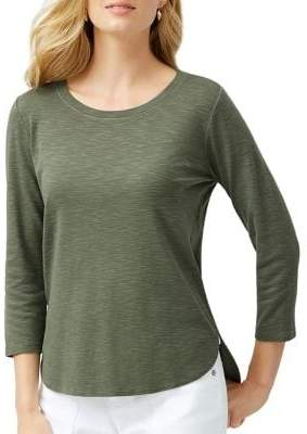 Ashby Three-Quarter Sleeve Cotton Top
