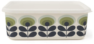 Orla Kiely Extra Large 70's Flower Enamel Container - White/Green/Black
