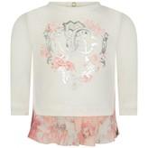 Roberto Cavalli Roberto CavalliBaby Girls Ivory & Pink Rose Print Top