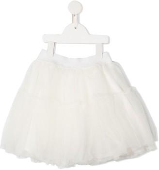 MonnaLisa Tiered Tulle Mini Skirt