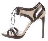 Burberry Leather Lace-Up Sandals