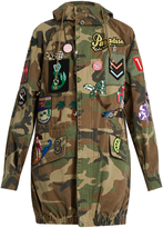 Marc Jacobs Patch-appliqué camouflage-print hooded jacket