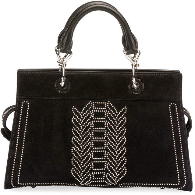 Altuzarra Shadow Suede Studded Tote Bag