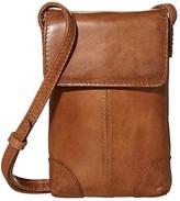 Frye Melissa Lanyard Phone Wallet Crossbody (Beige) Handbags