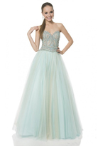 Terani Couture 1611P1096A Crystal Studded Sweetheart Tulle Gown