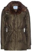 Prada Down jacket with fur collar