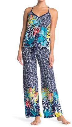 Jonquil Tropical Print Camisole & Pants 2-Piece Pajama Set