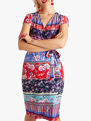 Yumi Patchwork Jersey Dress, Multi