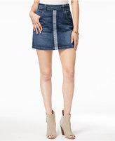 GUESS Two-Tone Denim Mini Skirt