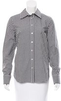 Suno Gingham Button-Up Top