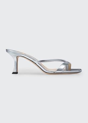 Jimmy Choo Maelie Metallic Thong Slide Sandals