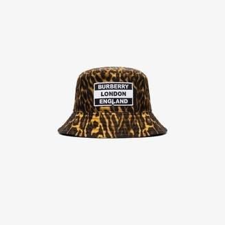 Burberry reversible leopard print bucket hat