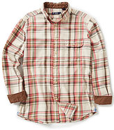 Daniel Cremieux Long-Sleeve Elbow-Patch Plaid Twill Woven Shirt