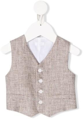 Il Gufo V-neck button down waistcoat