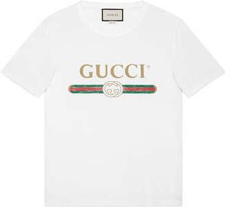 Gucci Oversize washed T-shirt with logo