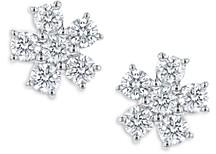 Bloomingdale's Diamond Flower Cluster Stud Earrings in 14K White Gold, 1.0 ct. t.w. - 100% Exclusive