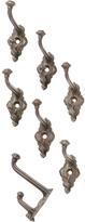 Rejuvenation Set of 7 Button-Tip Cast Iron Hooks