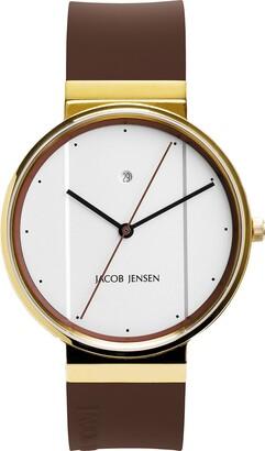 Jacob Jensen Unisex-Adult Analogue Quartz Watch with Rubber Strap JJ778