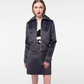 Paul Smith Women's Mottled Grey Faux-Fur Jacket