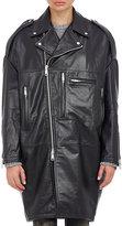 R 13 Women's Leather Oversized Moto Jacket-BLACK