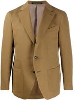 Caruso textured multi-pocket blazer jacket