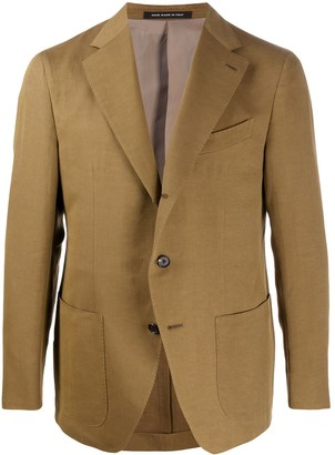 Caruso Textured Multi-Pocket Blazer Jacket
