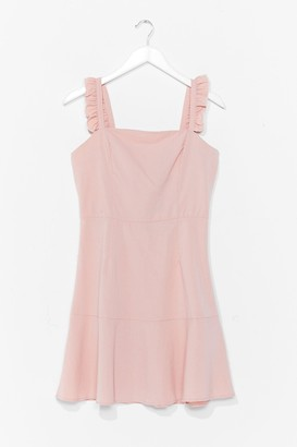 Nasty Gal Womens Say You Frill Square Neck Mini Dress - Pink - 8, Pink